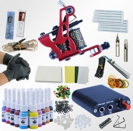 Hot Professional Tattoo Kit Set Tattoo Kit Tattoo Ink Sets Machines ...
