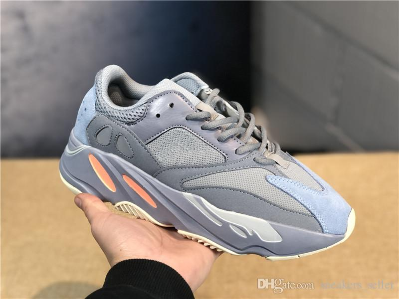 best cheap 1d9bb 6b812 Inertia 700 Wave Runner Mens Women Designer Sneakers New 700 V2 Static  Mauve Best Quality Kanye West Sport Shoes With Box 5-11.5