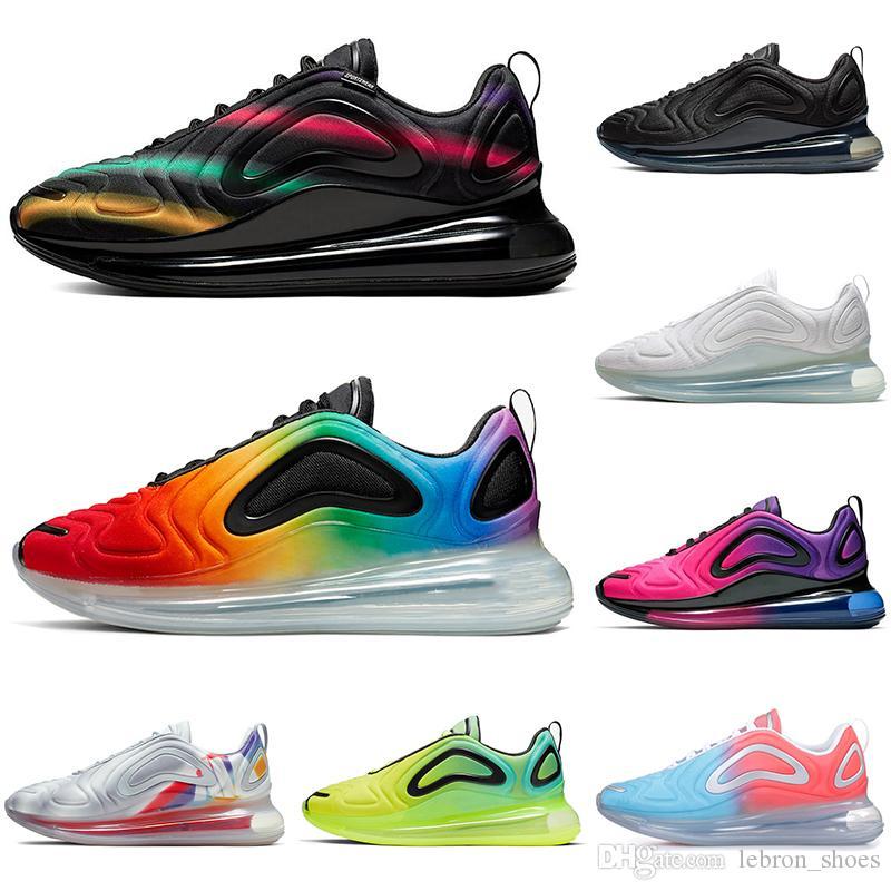 Nike air max 720 720s Chaussures de course multicolores pour hommes femmes Be True Pride coucher de soleil noir Volt Northern Lights baskets pour