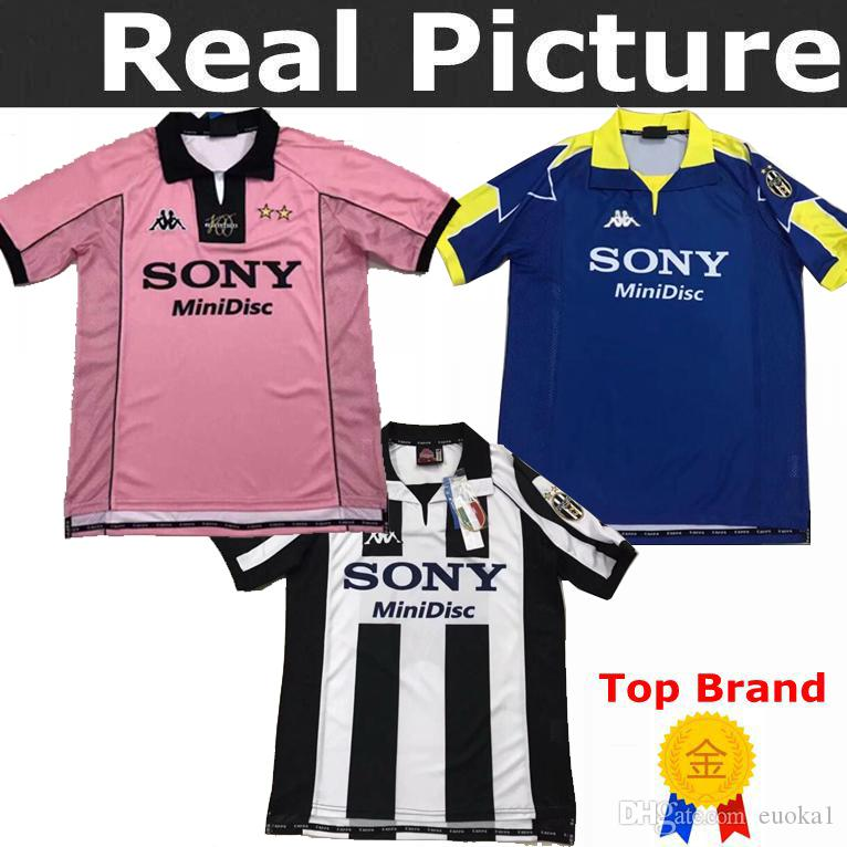 watch 18aaa 40e9d New top 95 96 97 98 TACCHINARDI Juventus Retro 1997 1998 ZIDANE champion  league Juventus Vintage soccer jerseys 97/98 football shirt