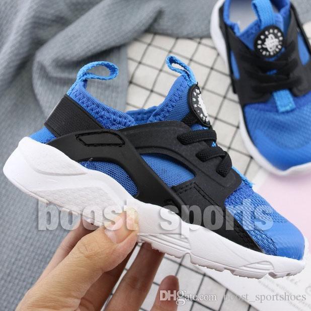 New Air Kinder Huarache Weiß Schwarz Ultra Run Laufschuhe Junge Mädchen Kinder Baby Mode Desigenr Trainer Turnschuhe Schuhe Eur22 35