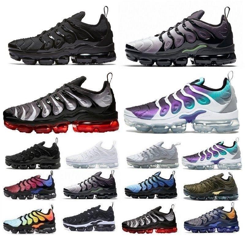 Nike air max vapormax Zapatillas de deporte TN Plus Olive para hombre Zapatillas de deporte Hombre Run Metallic White Zapatillas de deporte de color