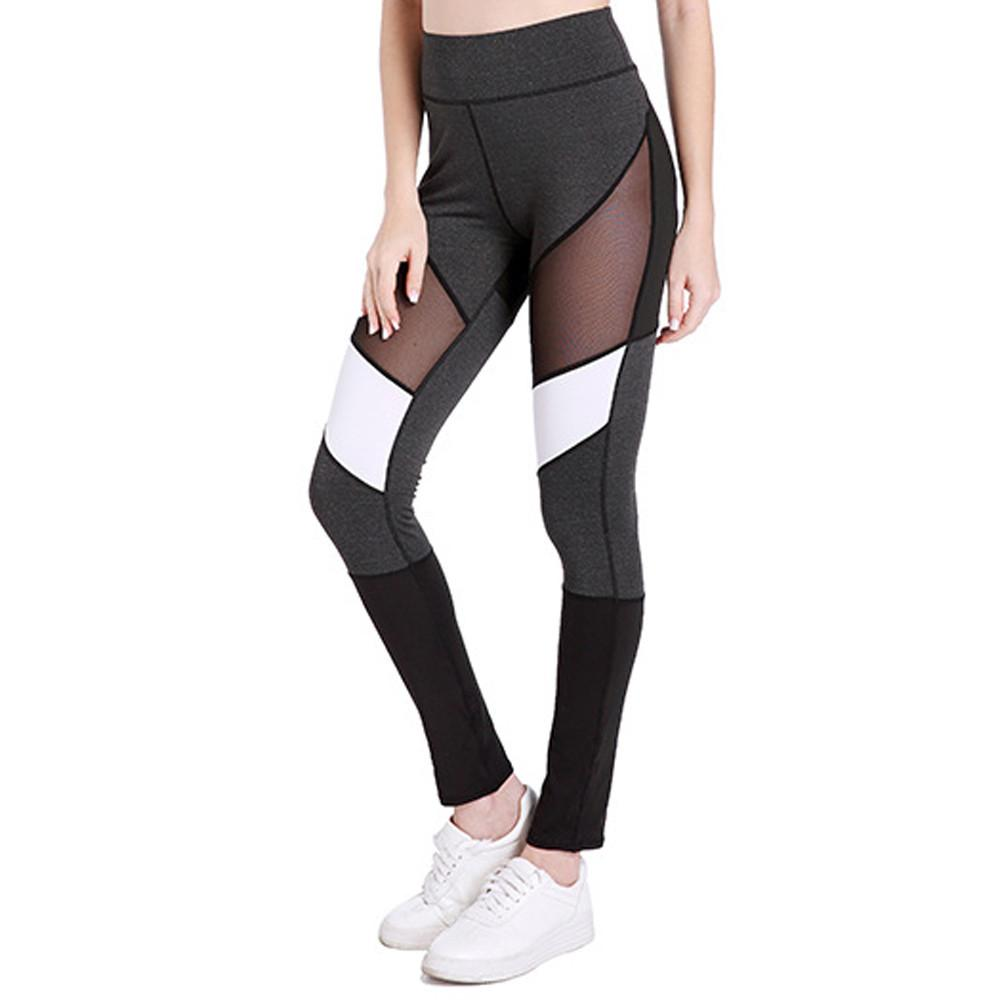 c35c4b5d09ed6 2019 Mesh Running Sport Tights Women Mention Hip Gym Yoga Capri Pants Tummy  Control Fitness Athletic Leggings #L4 From Cumax, $88.3 | DHgate.Com