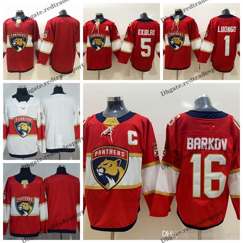 new product a0be0 b8e3f 2018 Florida Panthers 5 Aaron Ekblad 1 Roberto Luongo 16 Aleksander Barkov  Hockey Jerseys New Red Stitched Jerseys C Patch