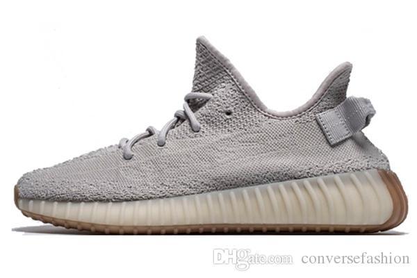 promo code fe328 784b2 Compre 2019 Adidas Yeezy Boost De Calidad Superior Para Hombre Para Mujer  Zapatos Para Correr 350 V2 Beluga 2.0 Crema Blanca Mantequilla Estática  Sesame ...