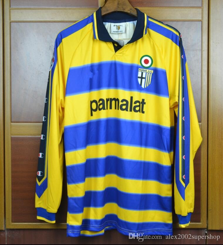 eb565b6eac09 2019 99 20 Parma Soccer Jersey Calcio Goalkeeper Buffon Crespo Cannavaro  Thuram Veron Retro 1999 2000 Classic Italia Parma Football Shirts From ...