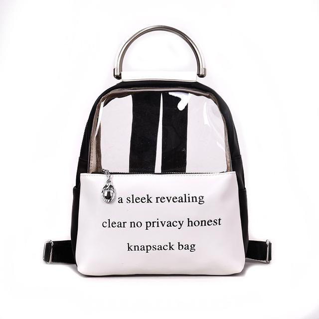 fb98ff9a00 Clear Printing Letter Transparent Backpack Teenage Girls Leather Women  Student Colorful Book Bag Travel Jelly Small Schoolbag LJJQ151 Girl  Backpacks Toddler ...
