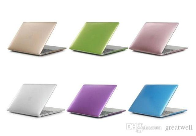 992fe79491b Compre Estuche Rígido De Color Mate Para Portátil De Color Metal Para Macbook  Air 13 12 11 Nuevo Macbook Pro 13 15 Con Pantalla Retina Cubierta De La  Barra ...
