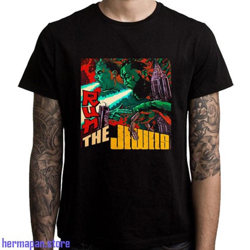T-shirt noir pour homme de la taille S à 3XL Run The Jewels Tour Logo Duo Hip Hop