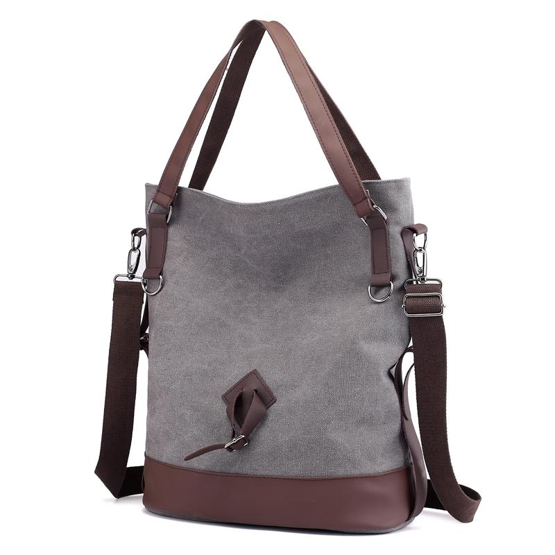 757957d487a8 Vintage Canvas Women Handbag Casual Totes Padded Large Capacity Ladies  Handbag College Student Shoulder Bag Cross Body