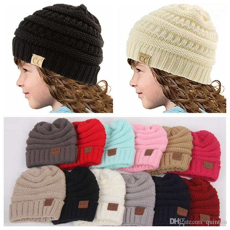 Baby Hats CC Trendy Beanie Crochet Fashion Beanies Outdoor Hat Winter  Newborn Beanie Children Wool Knitted Caps Warm Beanie Fitted Hats Straw Hats  From ... e60d8ed683c0