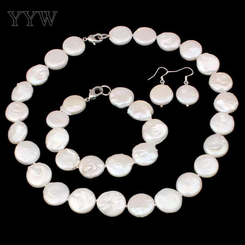 e72da0f3a8e2 Compre Conjuntos De Joyas De Perlas De Agua Dulce Cultivadas Naturales  Pulsera Pendiente Collar Botón 10 11 Mm Perlas Collar De Perlas Conjunto De  Mujeres A ...