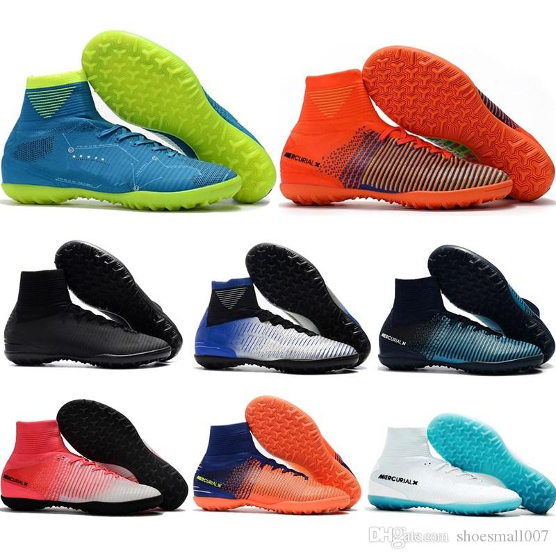 new concept 9dc48 1e997 New arrival mens Women Mercurial x EA SPORTS Soccer Shoes Boots High Ankle  SuperflyX KJ XII Ronaldo CR7 Neymar Football Shoes