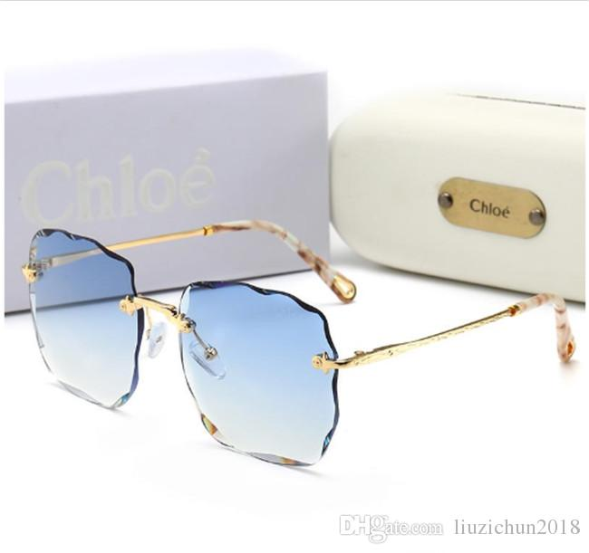 Top Quality Glass Lens Square Frame Fashion Women Coating Sunglasses Summer Designer Vintage Gradient Driving SunGlasses With Original Box