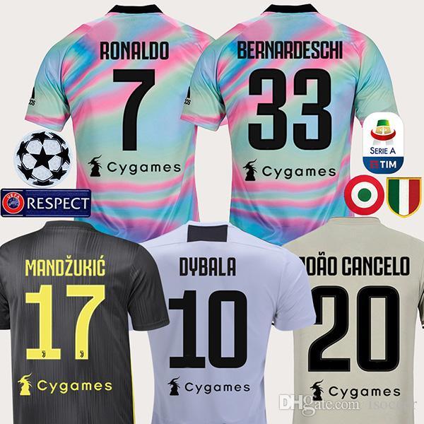 Juventus 18 19 RONALDO DYBALA BERNARDESCHI HIGUAIN Tercera Camiseta De  Fútbol COSTA Camiseta De Fútbol MANDZUKIC CHIELLINI Camiseta 2018 2019  MARCHISIO ... f09a7ba186069