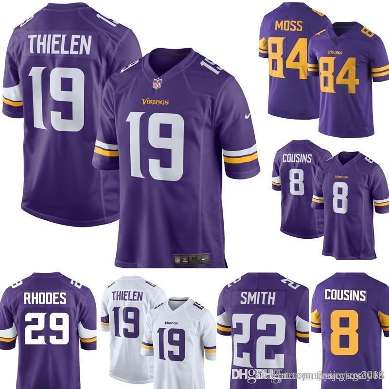 watch e2446 2f9f3 19 Adam Thielen Jersey Minnesota Men's Vikings Football Jerseys Embroidery  8 Kirk Cousins 22 Harrison Smith S-XXXL