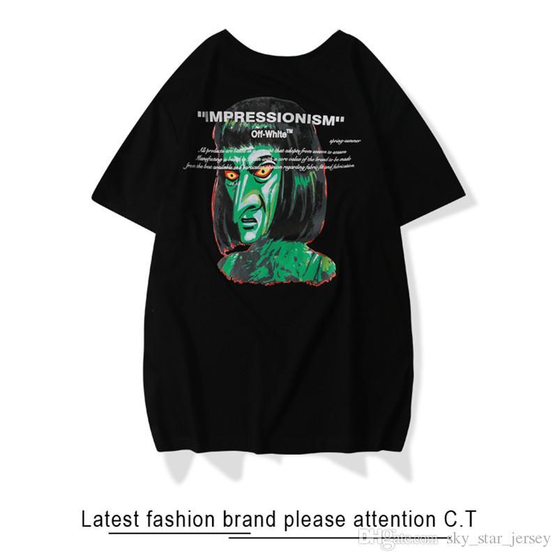 71d3a073092d0c OFF Tshirt WHITE IMPRESSIONISM Green Devil Printed Tshirt Mens Designers  Tshirt Spring Summer Fashion Trend Tee Designs Neck T Shirts From  Sky_star_jersey, ...