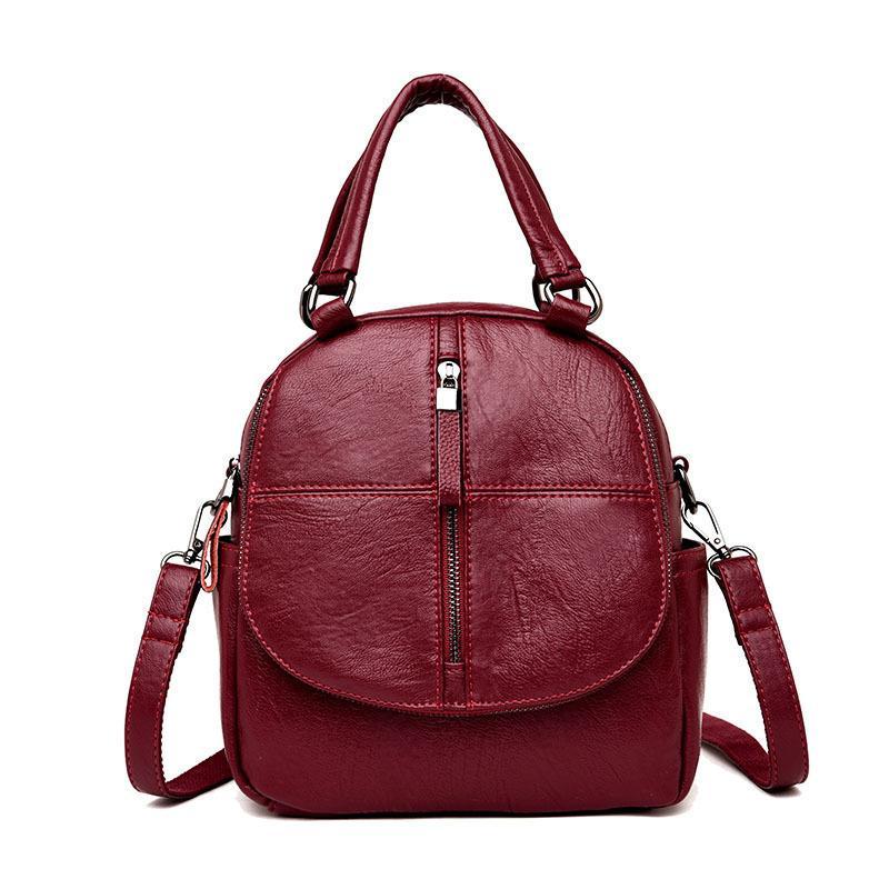 840729a170 2019 New Fashion Multifunction Women Backpacks Leather Shoulder Bag Backpack  Female Bagpack Travel Backpacks Sac A Dos Femme Camo Backpack Batman  Backpack ...