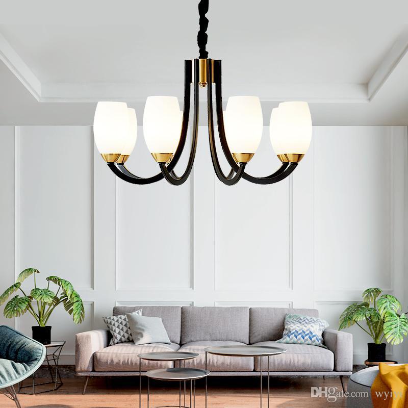 Post Modern Led Chandelier Nordic Lighting Living Room Bedroom Lamp ...