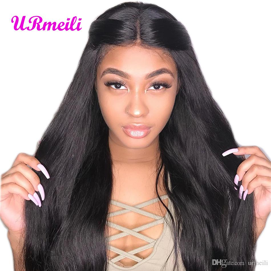 Full Lace Front Human Hair Wigs For Black Women 360 Lace Frontal Wig With  Baby Hair Lacefront Wigs Brazilian Human Straight Hair Wigs Remy Brazilian  Hair ... 9a7f1c60a