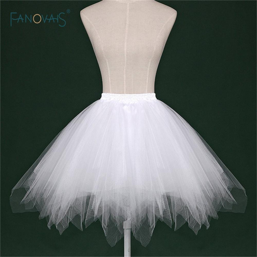 2019 Cheap White Black Red Short Bridal Petticoat Womens Skirt Tutu Skirt Tulle Many Colors Party Dress Wedding Accessories