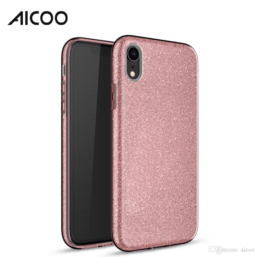 Hybrid Bling Glitter Case 3in1 Cover For Iphone Xs Max Xr X Plus