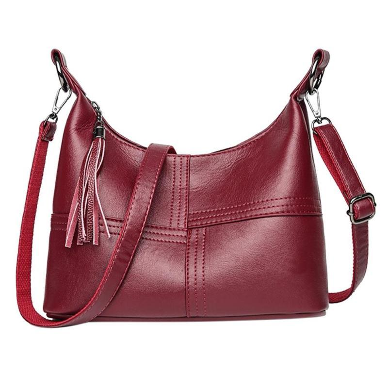 26161f8a71 Hobo PU Leather Women Handbags Tassels Zipper Shoulder Bag Female Large  Capacity Crossbody Bag Bolsos Mujer De Marca Famosa 2019 Name Brand Purses  Overnight ...