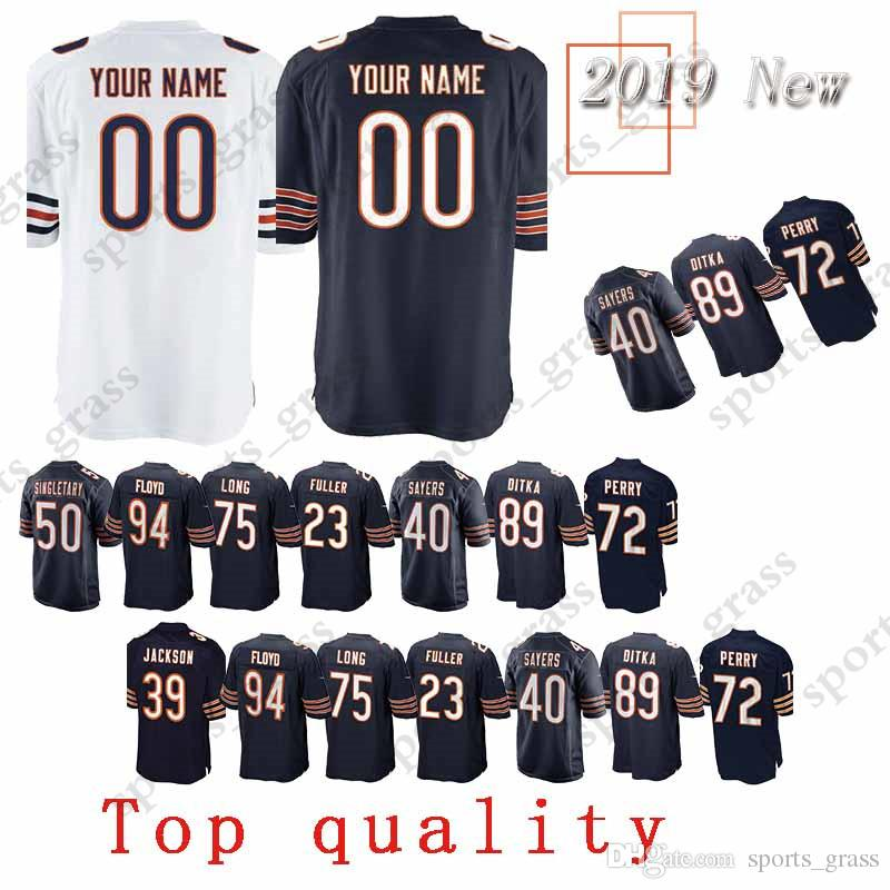 bd5f66151 2019 Custom Game Chicago Bear Jersey 29 Tarik Cohen 89 Ditka 40 Gale Sayers  23 Kyle Fuller 75 Kyle Long 94 Leonard Floyd Jerseys From Sports grass