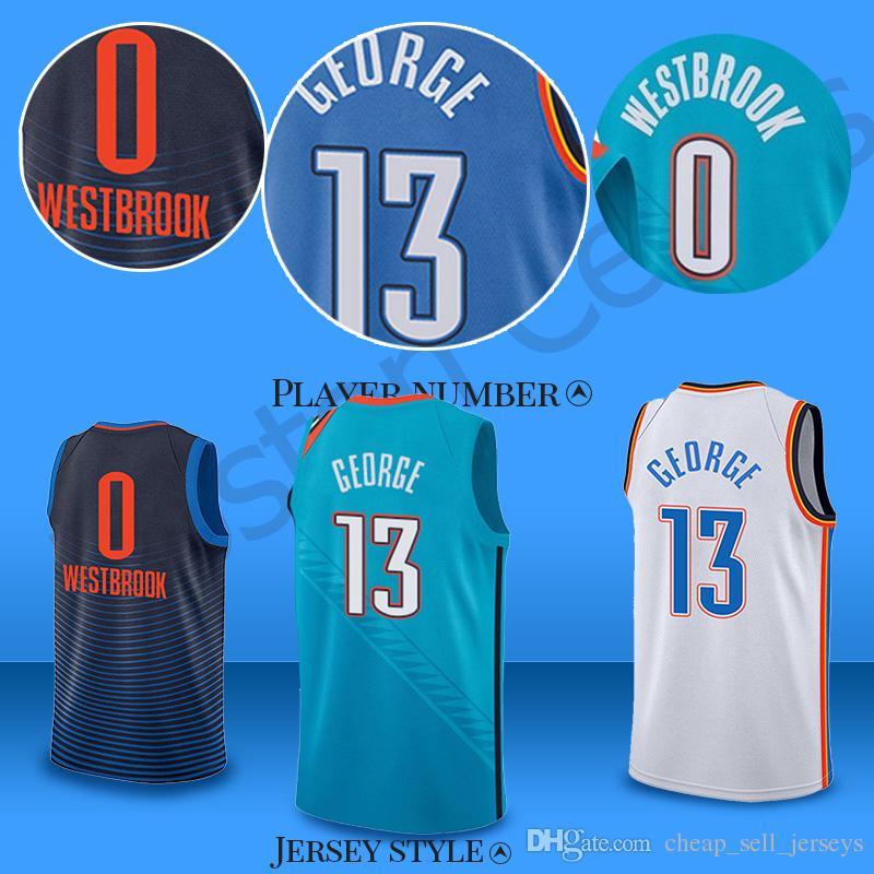 huge discount 892f1 8a9e6 OKC 0 Westbrook 13 George Russell Thunder jerseys Carmelo jerseys  Basketball Jerseys