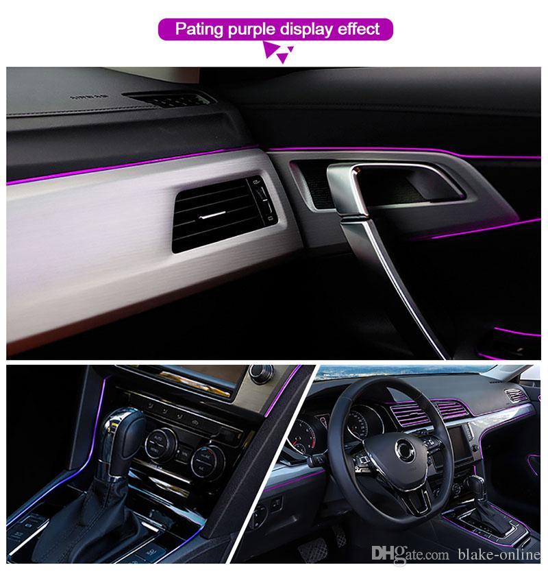 Tiras de automóviles universales DIY DIY Flexible Decoración interior Moldeo Tiradores de molduras Coche Control Central y Puerta Anti-Collision Decoration Strips