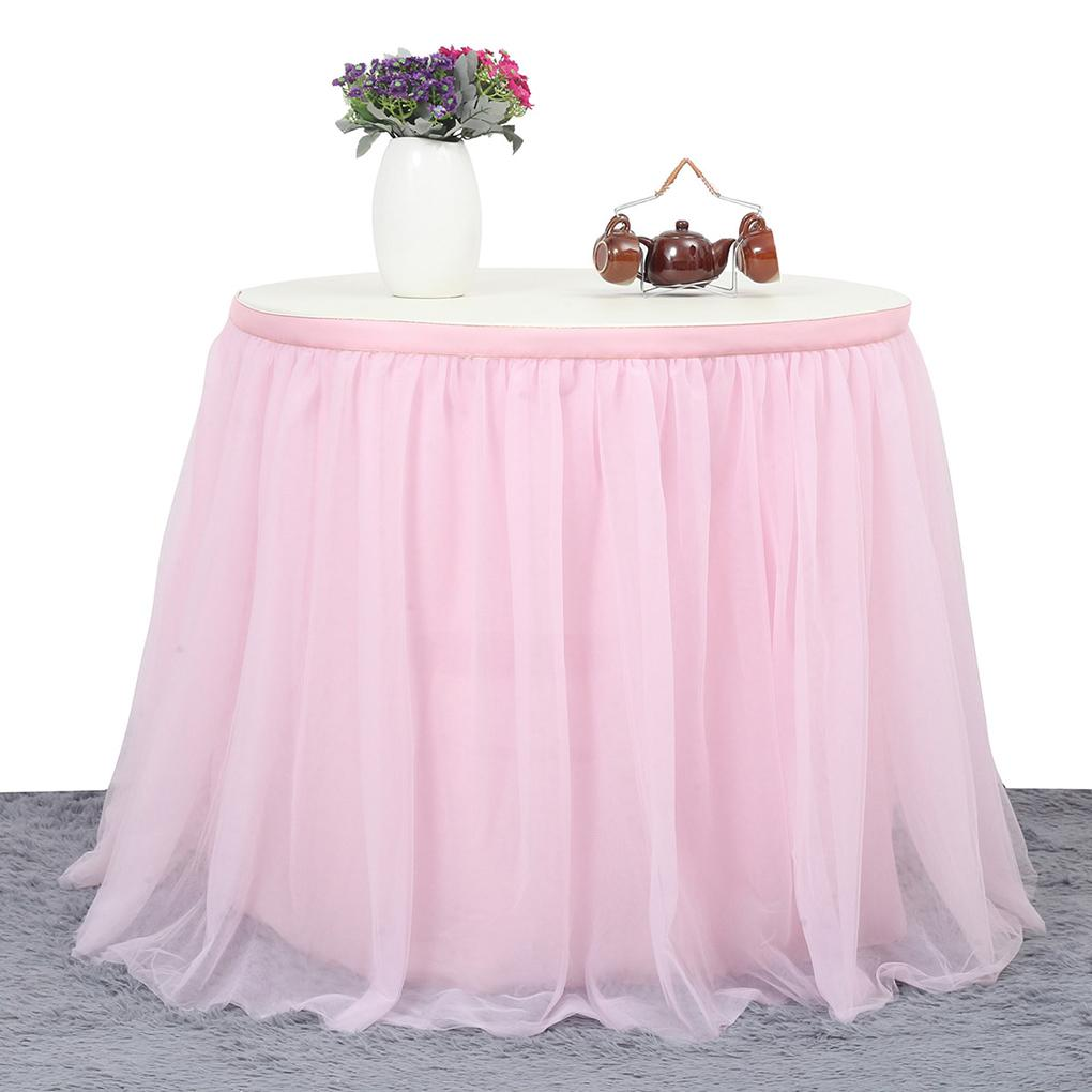 2019 Romantic Wedding Party Birthday Tulle Tutu Table Skirt