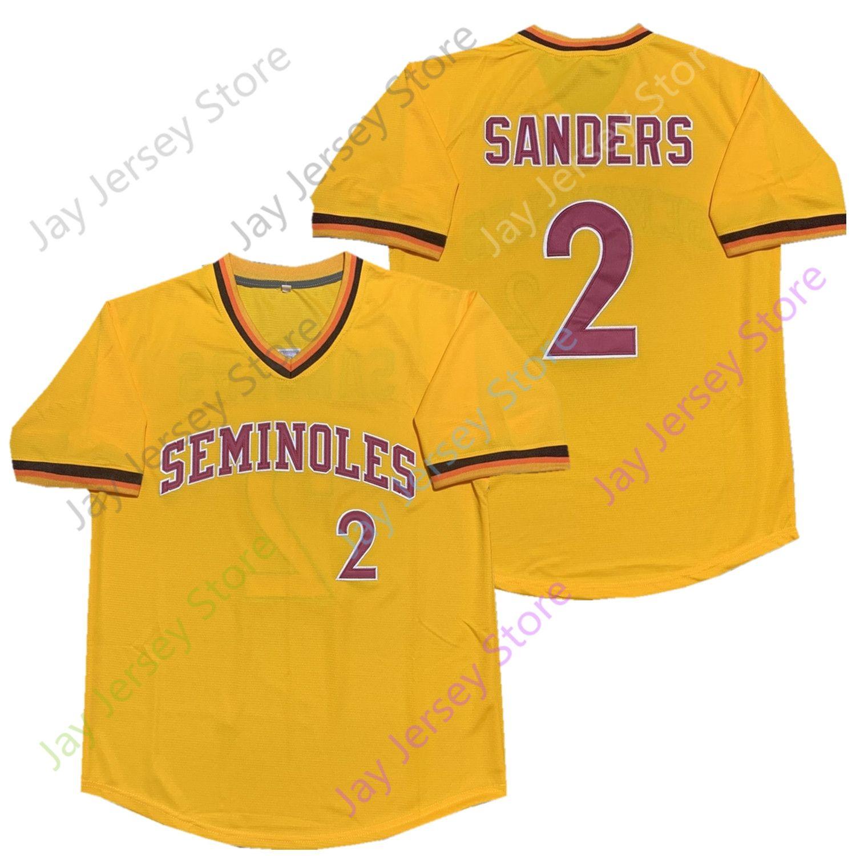 finest selection bf0e7 7d581 Deion Sanders Florida State Seminoles FSU Jersey Béisbol NCAA College  Jerseys Todos cosidos Tamaño S-5XL