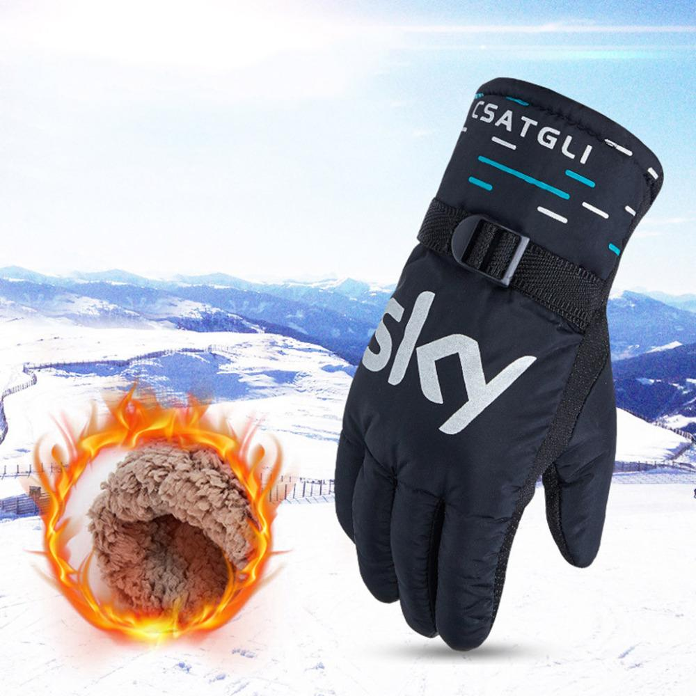 04bb4be2c64a Men Winter Skiing Gloves Non-slip Windproof Waterproof Thermal ...