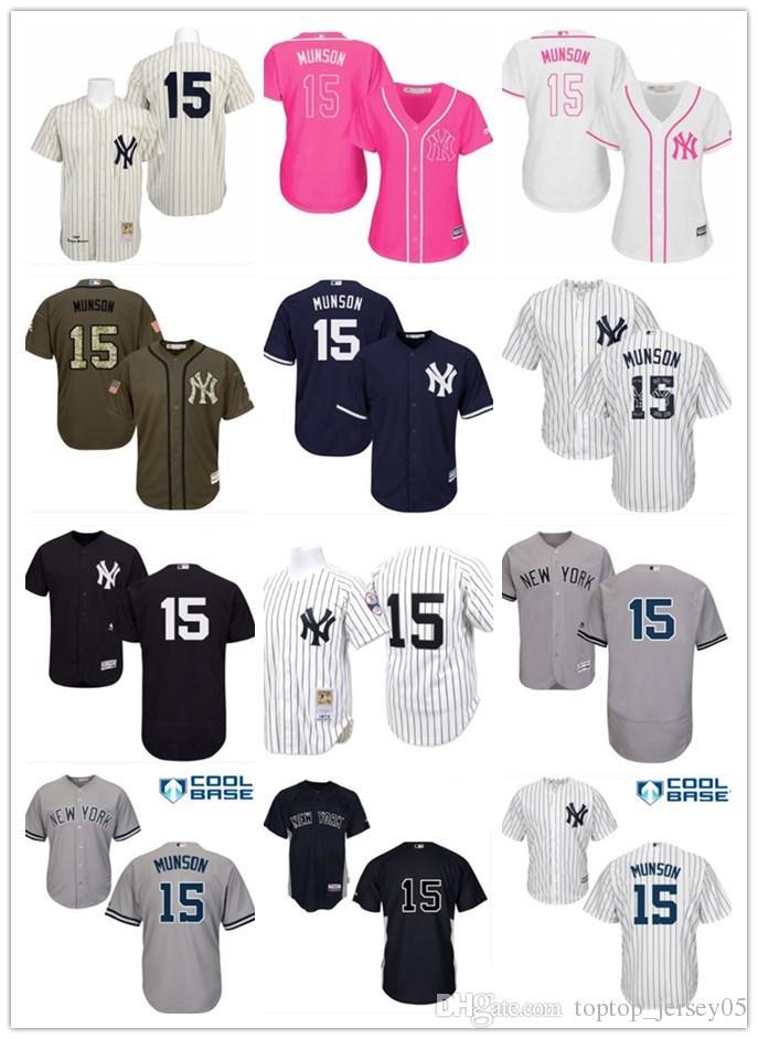 separation shoes 7822a 812b6 2018 top New York Yankees Jerseys #15 Thurman Munson Jerseys  men#WOMEN#YOUTH#Men s Baseball Jersey Majestic Stitched Professional  sportswear