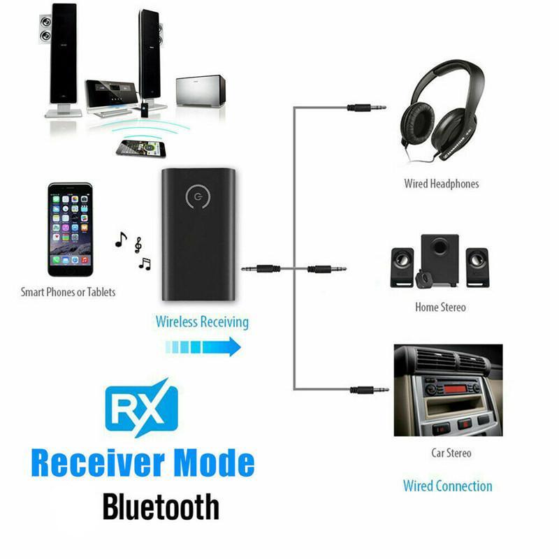 Bluetooth 5.0 émetteur et le récepteur 2-en-1 de 3,5 mm Audio voiture Adaptateur sans fil pour TV Ordinateur MP3 / 4 Casque téléphone portable