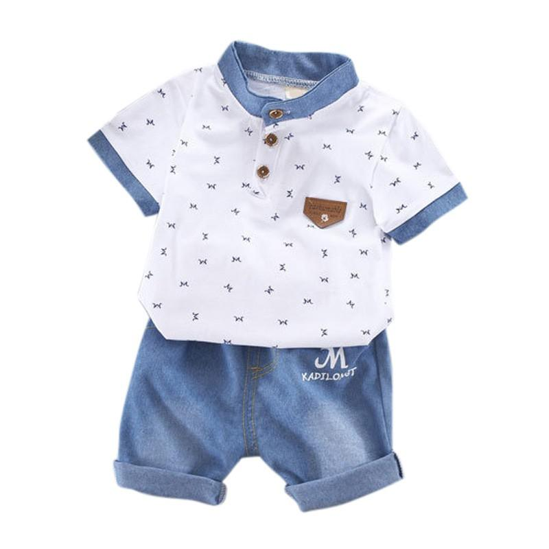 d3cf269ab 2019 Boy Cool T Shirt Newborn Baby Boy Clothing Set Gentleman T ...