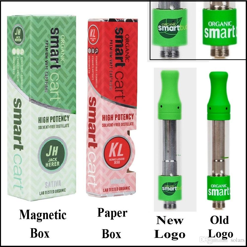 New Logo SmartCart Vape Cartridge 1 0ml Ceramic Coil 21 Flavors Smart Cart  Magnetic Box Package 1g Top Filling No Leakage by Smartbud