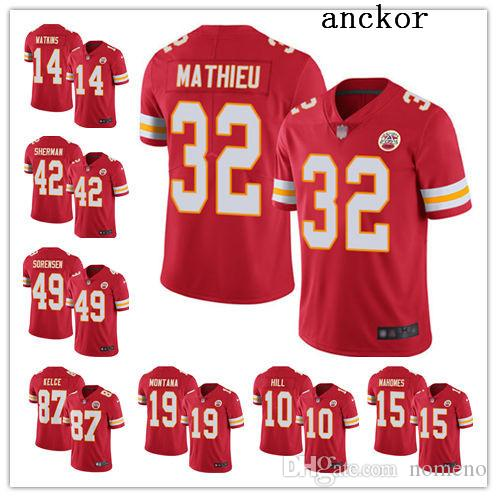 9caee403 Kansas City MEN WOMEN YOUTH 15 Patrick Mahomes II 10 Tyreek Hill Limited  Home Jersey Football Chiefs Red 2019 Vapor Untouchable