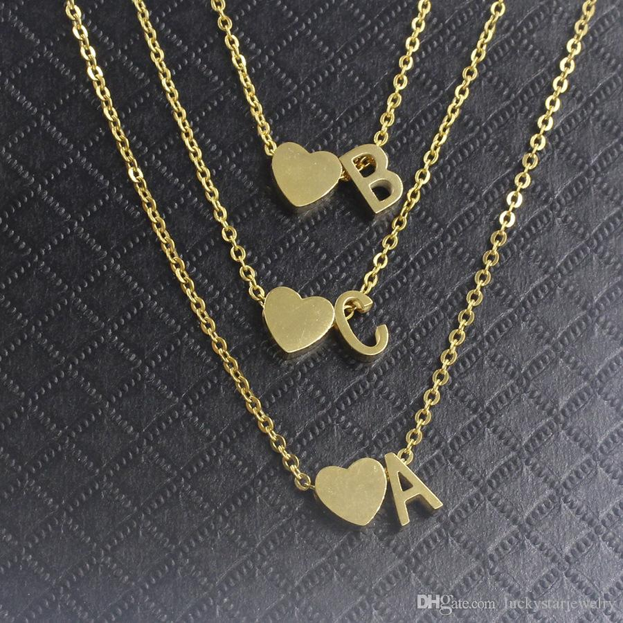 "Fashion high polished finish A-Z letter perforate necklace ,316l stainless steel 18k gold plated Letter""A"" ""B""""C"" pendant custom necklace"