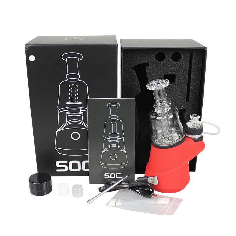 Min.SOC Enail Cire Cire Vaporizer Atomiseur 2600mAh Vape Mod Vape batterie Dab Rig cigarette électronique