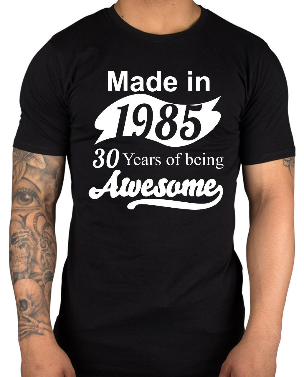 22605a3a Made In 1985 30 Years Of Awesome T Shirt Geek Nerd Birthday Xmas Gift Idea  Funny 100% Cotton T Shirt Jersey Print T Shirt Tee Shirt Design Mens Shirt  From ...