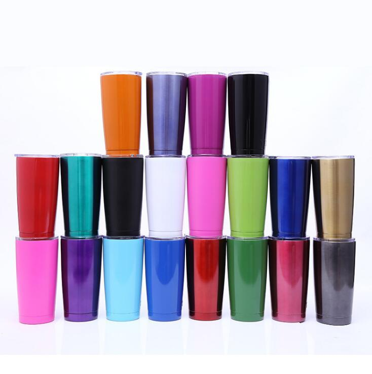 Stainless Steel Mug 19 Colors 20 oz Colorful Coffee Cups Outdoor Sports Travel Mugs Car Cups OOA6750