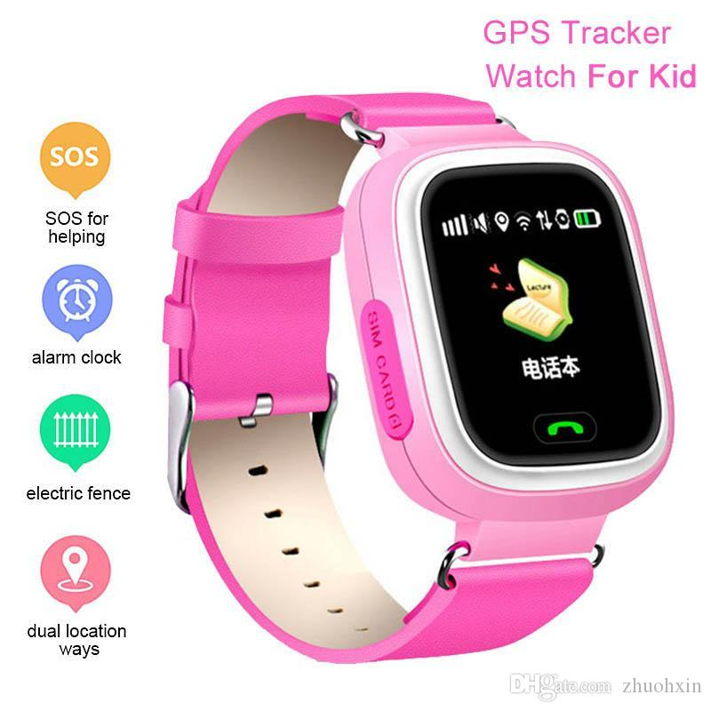Smart Watch Child Q90 GPS Anti-lost Watch Device Tracker Touch Screen SOS Call Location WiFi Safe Monitor VS Q50