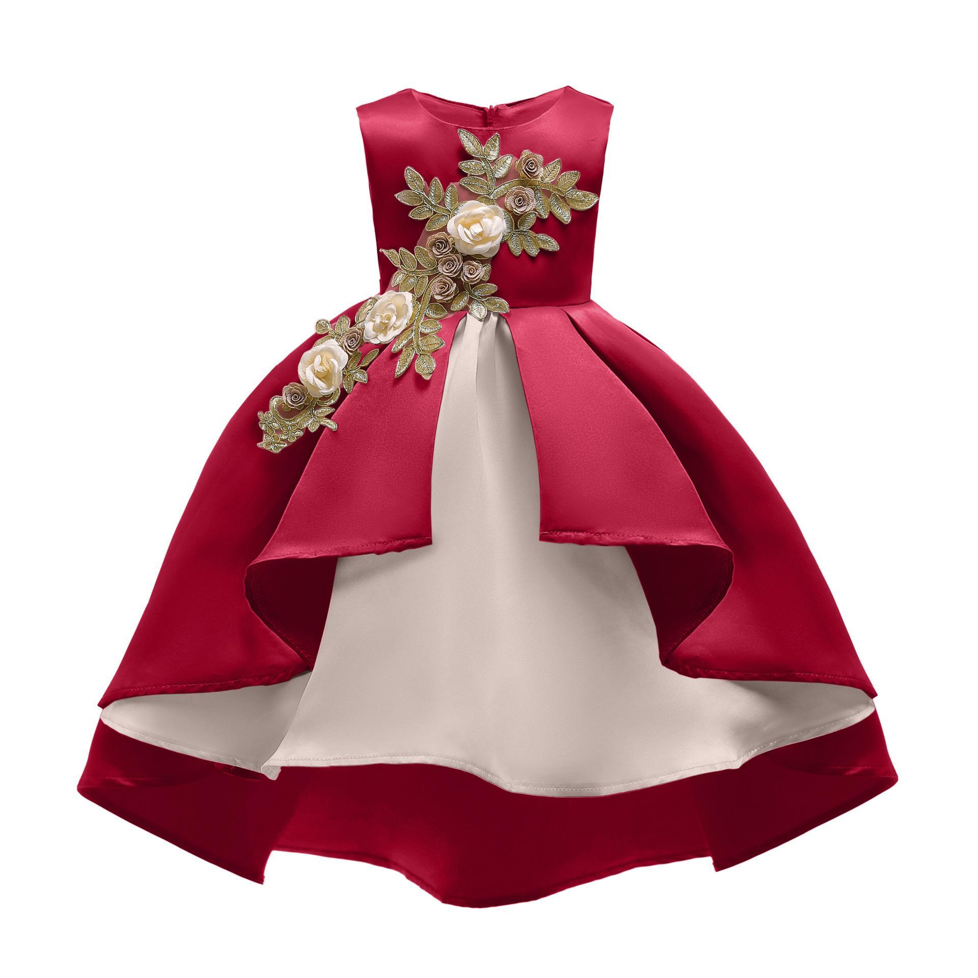 85b82d830ce93 Acheter 2019 Nouvel An Enfants Robe De Soirée Bébé Fille Premier  Anniversaire Fête Robe Habillée Pour Enfants Princesse Belle Floral  Vêtements De  42.31 Du ...