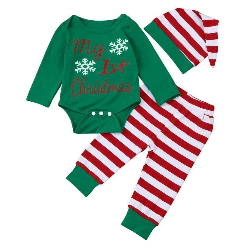 ade7a3898d98 2019 2017 My First Christmas Newborn Baby Girls Boys Long Sleeve ...
