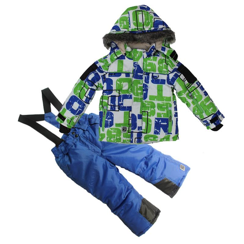 852c6bbe2781 2019 Boys Outdoor Winter Skiing Jacket+Pant Ice Snow Sports ...