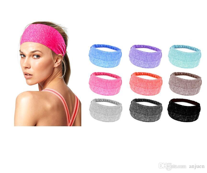 f6de5af92de38c Großhandel Mode Stirnband Männer Frauen Sport Yoga Fitness Dance Radfahren  Kopf Haarband Swrap Breite Headwear Gym Erercise Sport Schweißband Von  Anjuen, ...