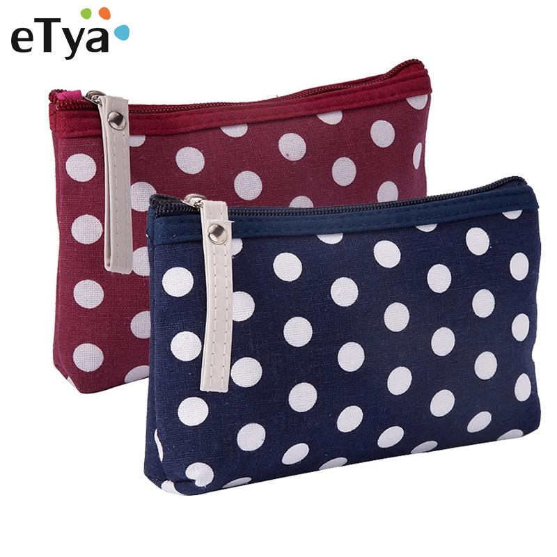 b9271b376077 eTya Travel Small Cosmetic Bag Stripe Women Makeup Bag Zipper Make Up  Handbag Purse Organizer Storage Pouch Toiletry Wash Bags
