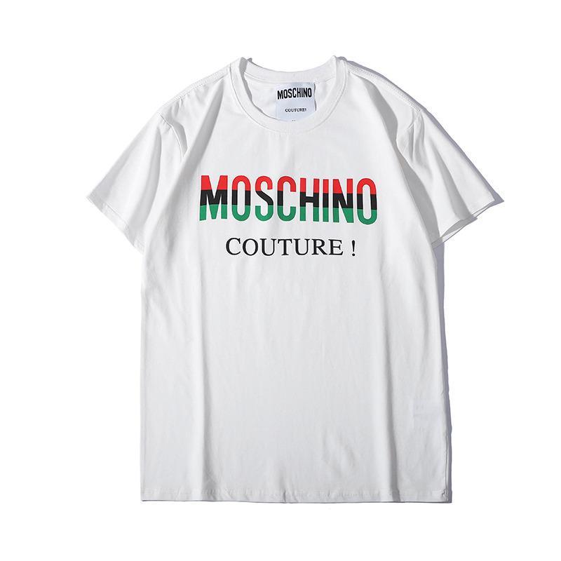 sale retailer d57b8 0a5e6 2019 New Summer Letter Stampa T Shirt Uomo Tshirt Cotton Blend Top Tees  Manica corta Camicia casual Magliette di marca Designer T Shirt