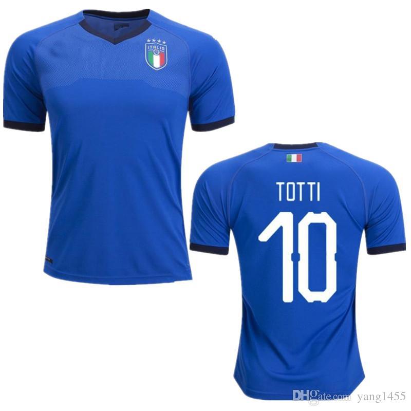 831b998de19 2019 Italy Soccer Jerseys 2018 CHIELLINI INSIGNE Italy Football Shirt  INSIGNE Camiseta De Futbol BERNARDESCHI TOTTI Maillot De Foot 2 10 T Shirts  Cool ...